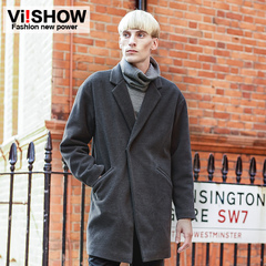 Viishow2014 men's trench coats long trench coats in the winter men's leisure jacket England men's coat