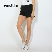 Westlink/West 2016 simple slim straight leg pants spring new black solid color women's casual pants