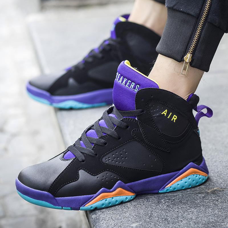 情侣篮球鞋韩版潮流运动鞋高帮男女篮球鞋耐磨减震战靴青少年球鞋