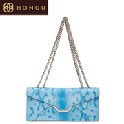 Honggu Hong Gu authentic 2015 new single diagonal shoulder leather snake chain small bag of 1599