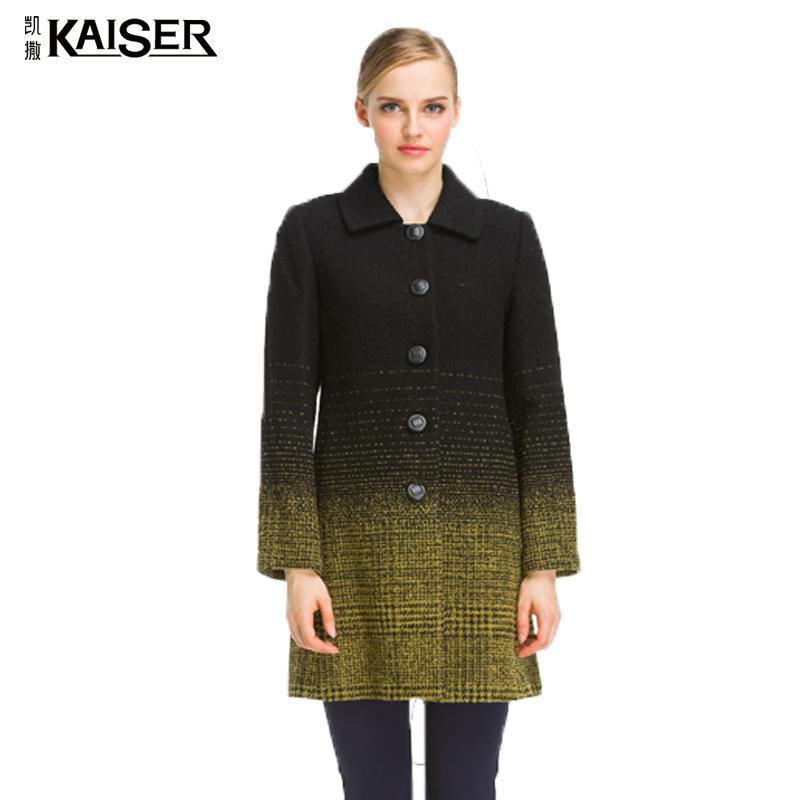 Kaiser/凯撒专柜同款 2017秋季新品时尚高端时尚中长款大衣女正品