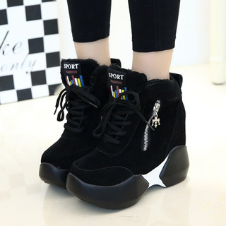2015 new high heel platform shoes for the winter quarter Korean wave lace casual shoes students increased in women's shoes