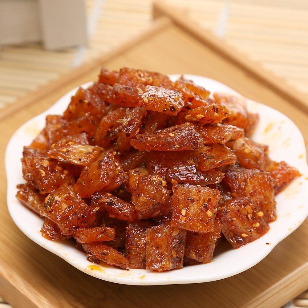 徐州特产小吃素食麻辣 朱志远手撕牛板筋辣条126g散装麻辣零食