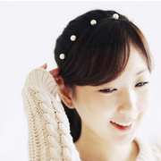 Korean version of the Joker head Korea headband hair clip Pearl headband bangs before issuing a fine headband hair women