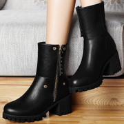 Centennial Martin boots, chunky heels shoes 2015 winter season new wave women's short boots with high heels short boots women boots