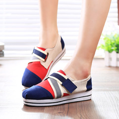 MI Ka autumn comfortable low cut sneakers Velcro buckle casual shoes women Korean wave shoes