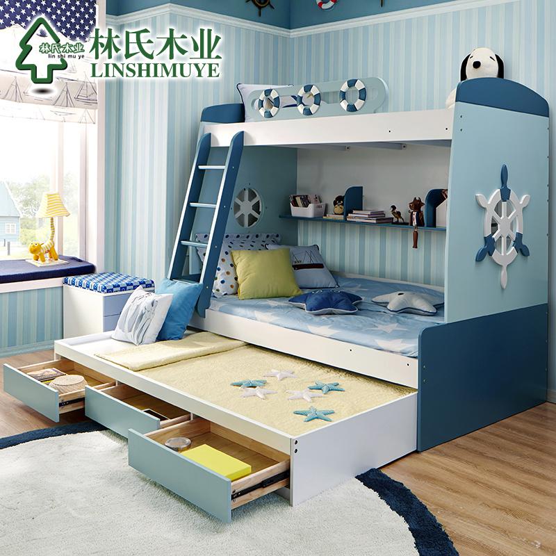 亚博足彩appios木业多功能儿童床高低床组合男孩母子床双层床上下床家具A-02产品展示图3