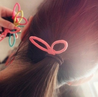 Know Richie rope made by the Korean version of the tiara hair accessories fabric band rabbit ears Korea hair band first flower cute sweet Salon