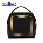 Exull q2015 new autumn fashion rivet Chao square zipper shoulder bag with the bag 15332155