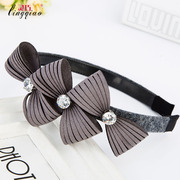 Smart new post band wide-toothed fabric hairpin jewelry rhinestone zircon slippery-proof hoop headwear