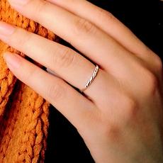 99纯银戒指女 日韩版潮人食指尾戒小指关节戒开口时尚活口银饰品