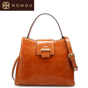 Honggu red Valley counters authentic 2016 new oil wax mobile diagonal bags cow leather bag 6935