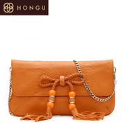 Honggu red Valley female bag 2014 new counter genuine suede leather ladies shoulder diagonal bag 2072