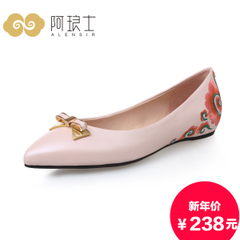 Alang-fall 2015 pointy shoes ethnic embroidery shoes women shoes asakuchi Korean flat 217