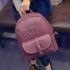 Beautiful new Korean fashion PU leather cartoon about 2015 winter trend of the Backpack Backpack bags leisure bags
