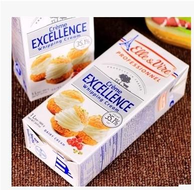 铁塔淡奶油1L  高品质淡奶油烘焙原料 法国原装进口18.4月