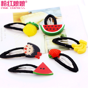 Pink Daisy Barrette child Empress soft cute lovely fruit animals BB cherry rope insert the soft hair jewelry