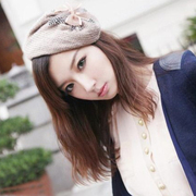 Korean version of the feather badge Hat headband wide headband hairpin hair clip hairpin yarn hair head jewelry