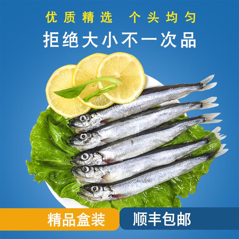 三顿饭挪威多春鱼500g*2盒新鲜海鲜烧烤食材海鱼冷冻生鲜包邮