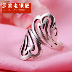 Chandos 990 silver openwork clouds and old silversmith retro Thai silver fashion rings ladies ring finger ring