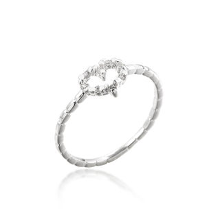 Good fashion jewelry rings heart fashion ring atmosphere elegant Korean version of simple rings