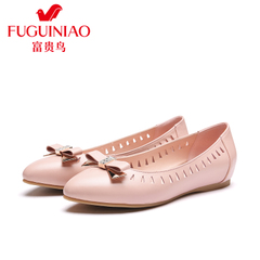 Rich bird flat-bottom shoes, spring 2016 new leather flat foot shoes asakuchi women casual shoes