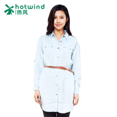 Hot spring and spring and autumn the new women's ladies collar slim long sleeve Tencel denim skirt in England 19H5102
