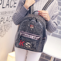 Beautiful new Korean fashion about 2015 winter sparkle backpack bag school bag backpack bag