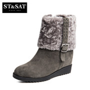 2015 winter new skins rivet heads on Saturday increased wool short boots in women's shoes in SS54114136