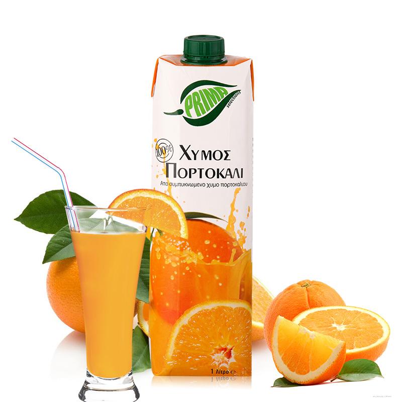 塞浦路斯进口果汁 浦瑞曼橙汁 1L 瓶进口橙汁饮料