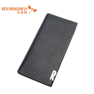 Red Dragonfly long suede leather business card wallet men fashion genuine leather wallet Korean men