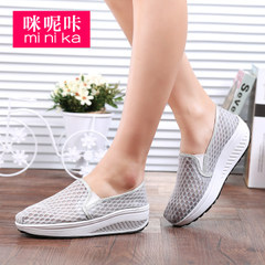 MI Ka 2015 shook autumn leisure shoes women sport shoes with thick-soled feet lazy mesh Lok Fu shoes