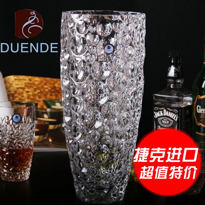 捷克 进口 水晶 玻璃 时尚 创意 现代 欧式 客厅 落地 花瓶