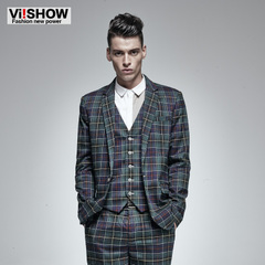 Viishow2015 spring suit male leisure suit small men's slim fit men's suit and Plaid Blazer