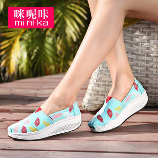 Microphone clicking autumn 2015 new Korean version of canvas shoes asakuchi women casual shoes feet lazy people lazy shoes
