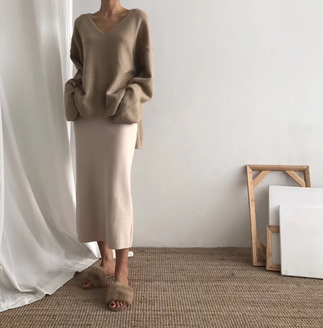 THESUMEY 秋冬单穿或者搭配都很好看的针织半身裙建议一套入手哦