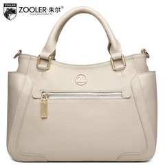 Jules leather handbag bag fashion in Europe and America the first layer of leather ladies shoulder bag new handbag leisure winter