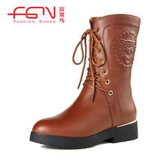 Rich bird in winter boots and cashmere women's boots boots NV Martin boots motorcycle boots, leather boots women