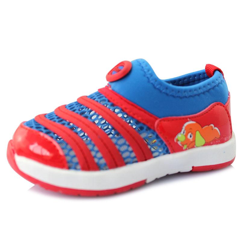 托米福儿新款毛毛虫网布透气男女宝宝学步鞋橡胶软底舒适5A73-1