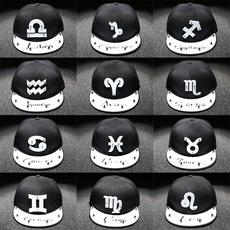 春夏季12十二星座个性棒球帽大号男女帽子大码鸭舌帽嘻哈帽平檐帽