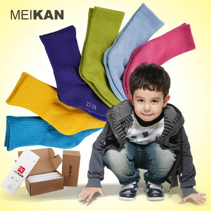 meikan美看 儿童棉袜 加厚毛圈袜子 无骨手工缝头袜 男女童厚袜子