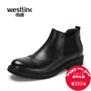 Westlink/West 2015 winter new retro round head low in England with Chelsea leather men boots
