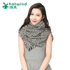 Hot female flowers yarn knitted thermal scarf long Korean winter shawls scarves dual-use P060W5408