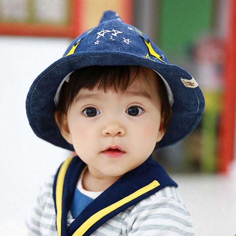熊朵宝宝遮阳帽春秋1-2岁太阳帽儿童帽子夏天男女童纯棉魔法盆帽产品展示图1