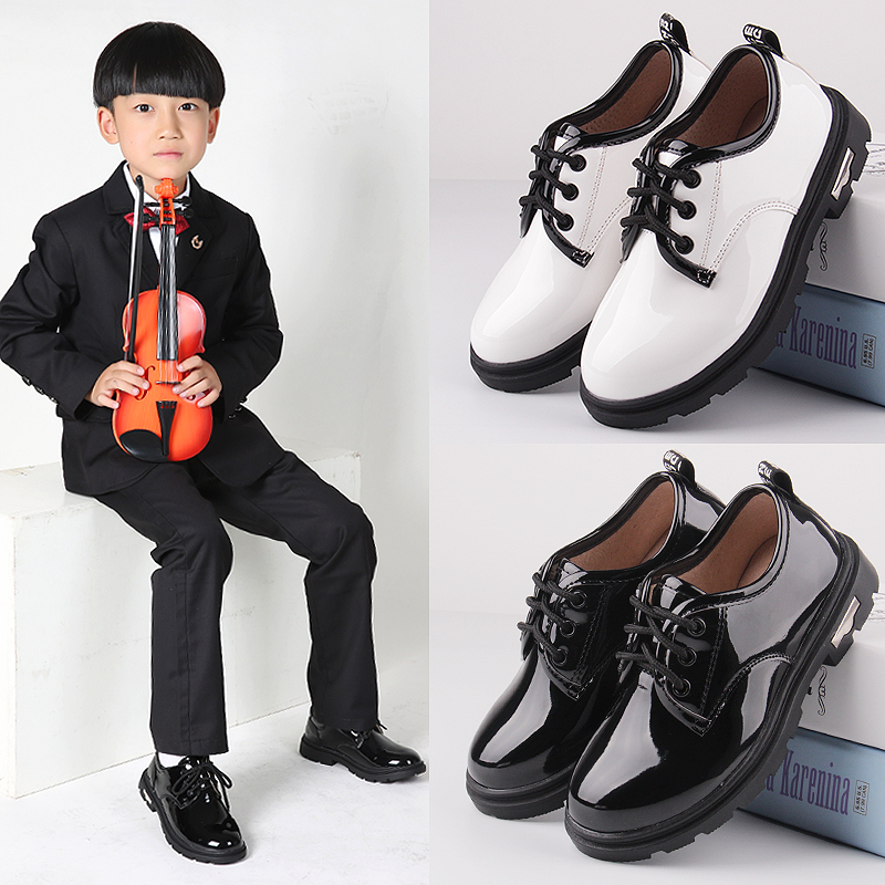 童鞋男童黑色单鞋2017春秋新款学生西装皮鞋男中大童儿童小皮鞋潮