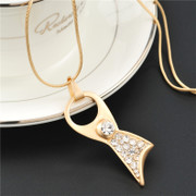 Love fashion sweater chain long Korea wild creative Korean necklace accessory jewelry package mail