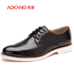 Aokang shoes spring 2016 new men's business dress leather shoes comfortable EVA foam sole cushioning