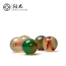绍元水晶 DIY串珠 孔雀玛瑙 6-12MM 圆珠散珠 半成品单颗