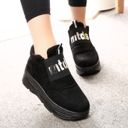 2015 winter season increased new Korean version of thick-soled platform shoes with sports and leisure students set foot tide and velvet shoes