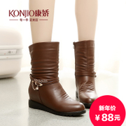 Kang Jiao 2015 winter boots high boots in head tide women's boots leisure shoes fall/winter boots new